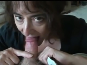 mature wife sucking small cock and swallows