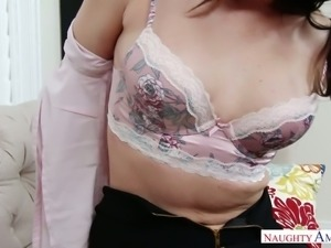 Slutty Caucasian girl Dana DeArmond blacked brutally in arousing fuck clip