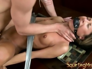 Crazy Ashley makes lesbian squirt hard
