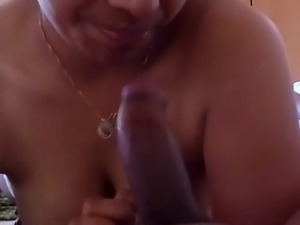 hot milf cock and giving mind blowing blowjob