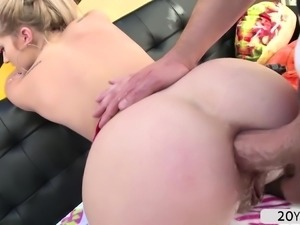 Arya Fae oiled up and anal fucked