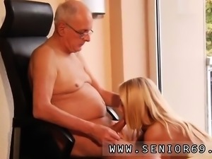Young brunette fucks old man and ally ann old man first time
