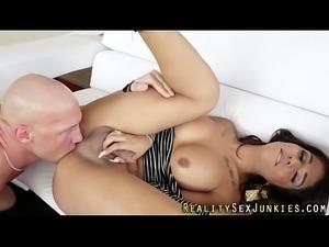 Shemale pornstar spunked