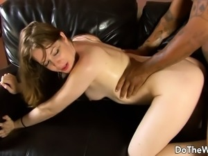 Young wife fucked by black man in front of husband