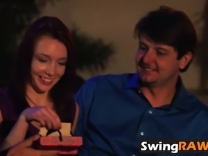 Couples experiencing new sexy things in reality show