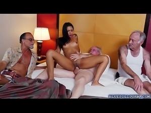Latina hottie Nikki Kay staycation with old men