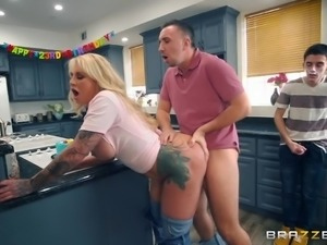 whipped cream and boobs for his birthday