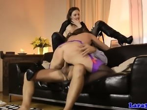 Mature british couple trio with young babe