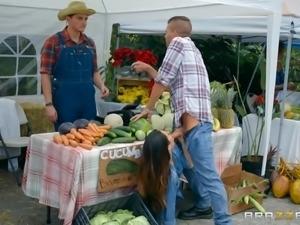 blowjob at the farmer's market