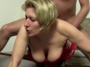 Mature blondes love sucking on lovers' erected boners