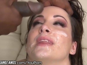 DevilsGangBangs Marley Blaze Takes BBCs in All Holes