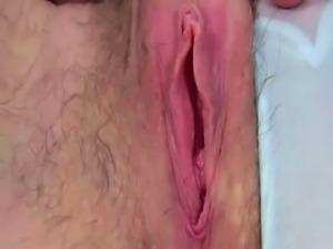Wonderful playful and slutty lady was flashing her hairy asshole on webcam