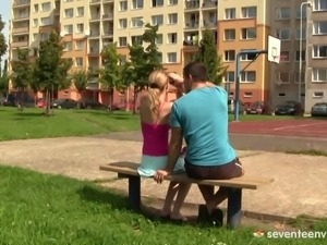 She meets a guy while bird watching and ends up fucking him