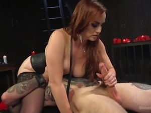 Bella smothers her slave's face with her wet pussy and thick ass. If he...