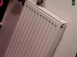 Hidden camera - German girl found in toilet