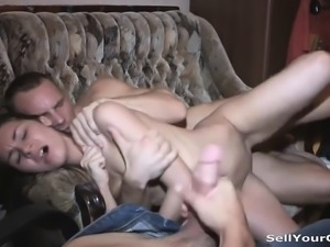 Double having sex with profit Tabetha from 1fuckdatecom
