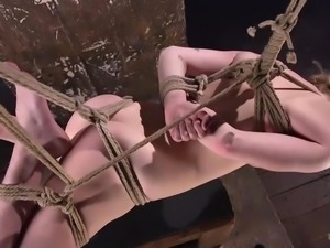 This is the horny blonde's first BDSM session and she totally liked it. It...