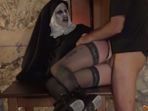 Shameless nun Silvia Rubi is enjoying every single minute of sex
