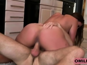 Busty Brunette Milf Skyler Riding Cock In Kitchen