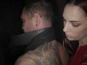 Stunning mistress wants to punish her slave with a nice spanking