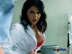 Hot Doctor Valentina Nappi Devours Big Cock Of Patient