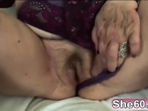 Blonde fat granny sideways long younger schlong