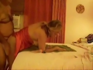 Huge breasted plump blonde housewife got anal fucked doggy style