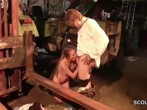 German Teen Seduce To Fuck by old Stranger Man