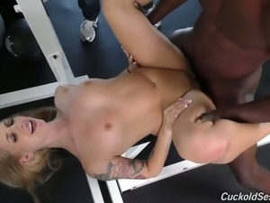 Petite bodied white girl Ryan Riesling blacked brutally