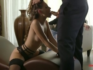 Sexy babe Kimmy Granger loves being watched during blowjob foreplay