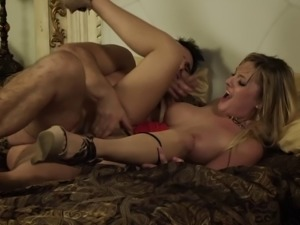 Slutty wife cheats and gets fucked hard by another guy