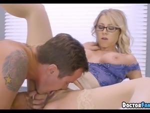 Big Tit Blonde Doctor is a Slut