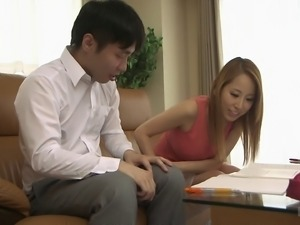 Lovely Asian chick is great riding a guy's fat prick