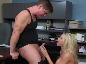 Fetching blonde Katie Morgan always gladly spreads legs for the boner
