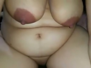 Chubby Arab MILF riding my dick in a cowgirl position