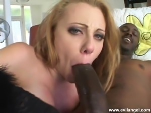 Long haired babe squirts while being pounded hard with big cocks in an...