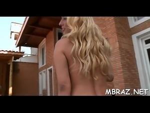 Oral stimulation in attractive brazilian style