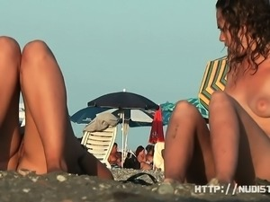 Amateur nude beach voyeur sluts enjoying the warm sun