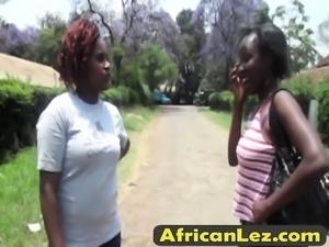 Two amateur ebony sluts walking down the road