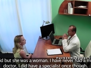 Czech blonde patient fucks doctor
