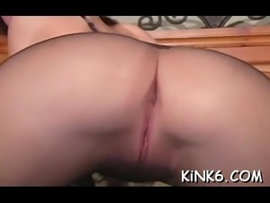Astounding hairy pink pussy view