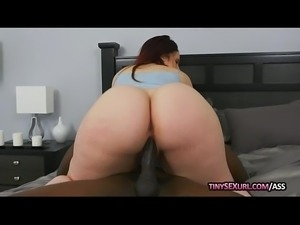 Phat ass babe banged by big black cock