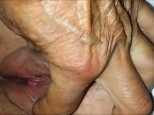 65 Year-Old Granny Pussy Up-Close - Homemade