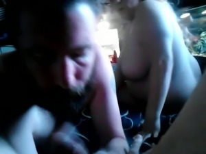 Foureyed wife gives head and rides my dick in a cowgirl position