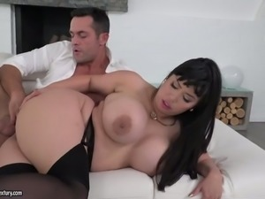 Chubby Asian BBW in sexy stockings Tigerr Benson got her anus stretched in...