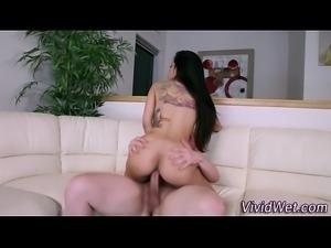 Busty pornstar throating