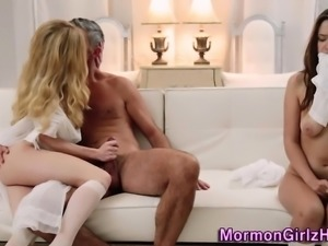 Mormon amateur gets cum