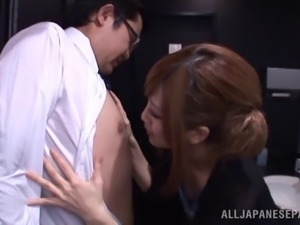 Locking themselves in a public restroom for a blowjob