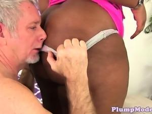Ebony bbw screwed in cowgirl position