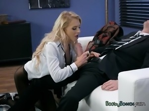 Chesty Assistant Alix Lynx Blows Her Hung Boss